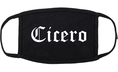 Cicero Indiana IN Old English Cotton Face Mask Black