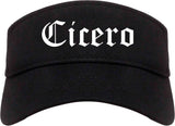 Cicero Indiana IN Old English Mens Visor Cap Hat Black