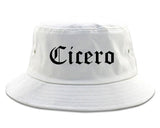 Cicero Indiana IN Old English Mens Bucket Hat White