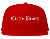 Circle Pines Minnesota MN Old English Mens Snapback Hat Red