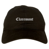 Claremont New Hampshire NH Old English Mens Dad Hat Baseball Cap Black