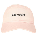 Claremont New Hampshire NH Old English Mens Dad Hat Baseball Cap Pink