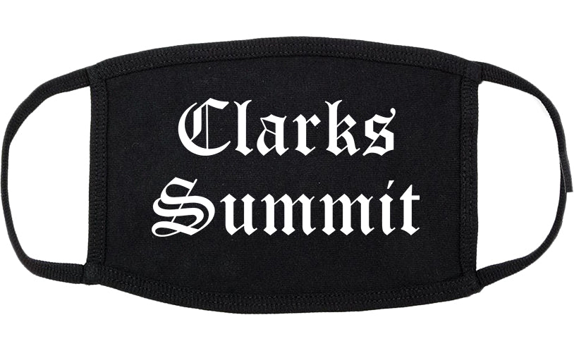 Clarks Summit Pennsylvania PA Old English Cotton Face Mask Black