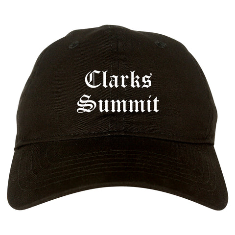 Clarks Summit Pennsylvania PA Old English Mens Dad Hat Baseball Cap Black