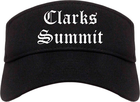 Clarks Summit Pennsylvania PA Old English Mens Visor Cap Hat Black