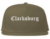 Clarksburg West Virginia WV Old English Mens Snapback Hat Grey