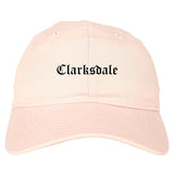 Clarksdale Mississippi MS Old English Mens Dad Hat Baseball Cap Pink