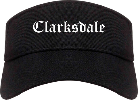 Clarksdale Mississippi MS Old English Mens Visor Cap Hat Black