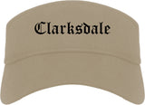 Clarksdale Mississippi MS Old English Mens Visor Cap Hat Khaki
