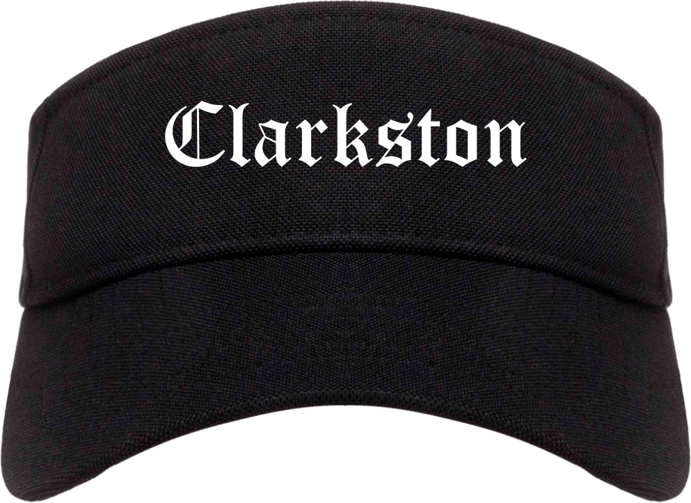 Clarkston Georgia GA Old English Mens Visor Cap Hat Black
