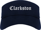 Clarkston Georgia GA Old English Mens Visor Cap Hat Navy Blue