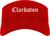 Clarkston Georgia GA Old English Mens Visor Cap Hat Red
