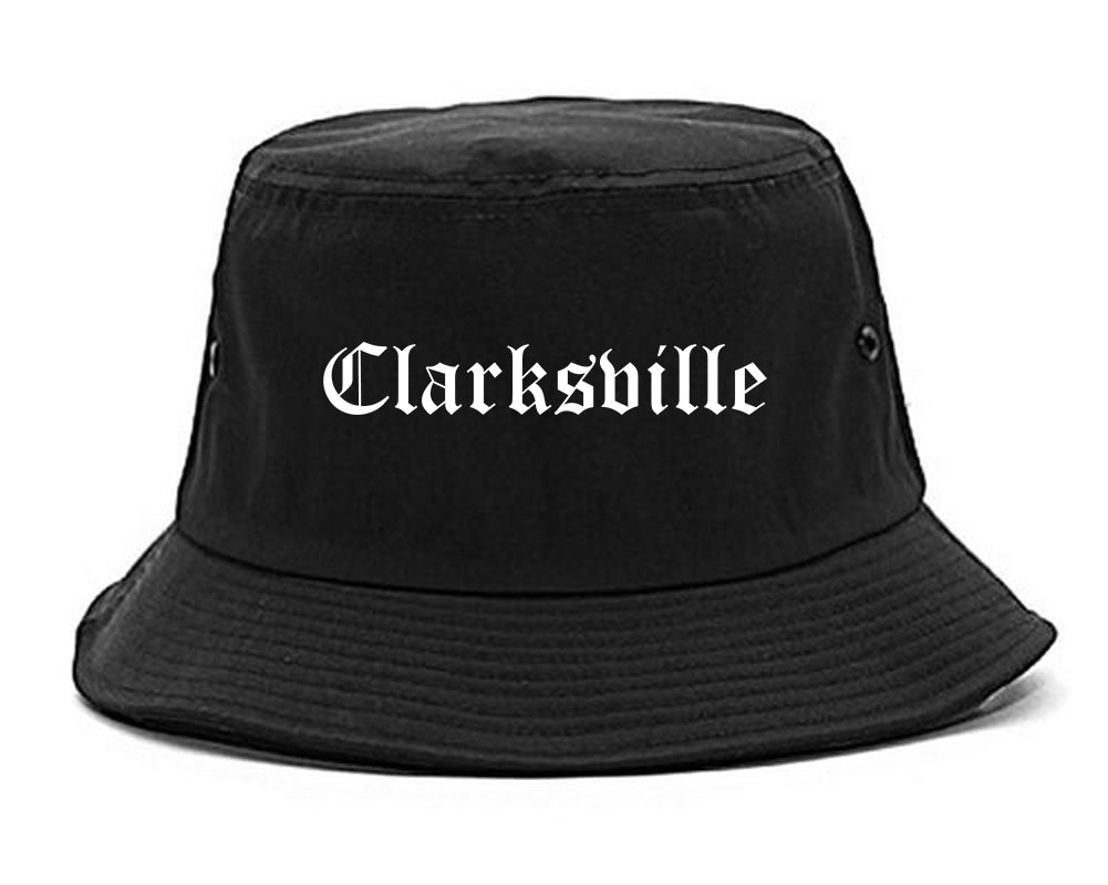 Clarksville Indiana IN Old English Mens Bucket Hat Black