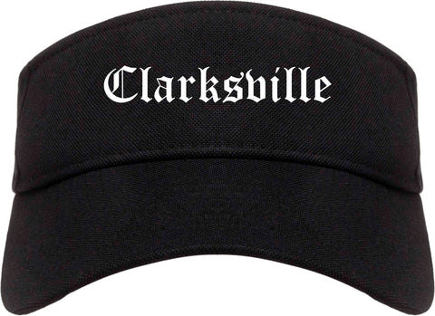 Clarksville Indiana IN Old English Mens Visor Cap Hat Black