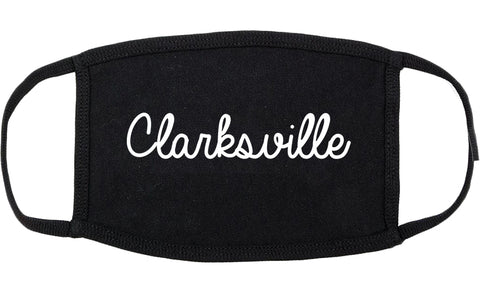 Clarksville Tennessee TN Script Cotton Face Mask Black