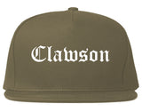 Clawson Michigan MI Old English Mens Snapback Hat Grey
