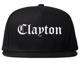 Clayton North Carolina NC Old English Mens Snapback Hat Black