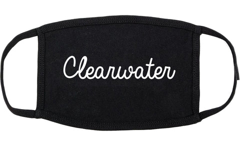 Clearwater Florida FL Script Cotton Face Mask Black
