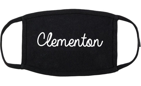 Clementon New Jersey NJ Script Cotton Face Mask Black