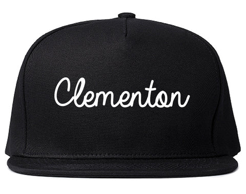 Clementon New Jersey NJ Script Mens Snapback Hat Black