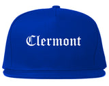 Clermont Florida FL Old English Mens Snapback Hat Royal Blue