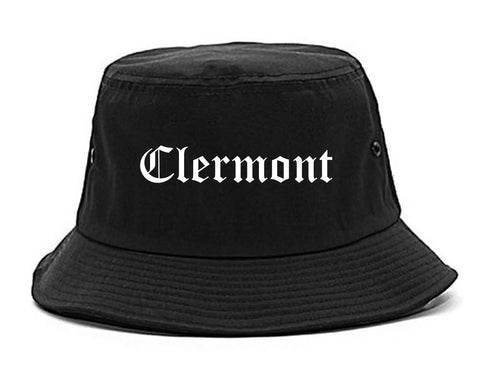 Clermont Florida FL Old English Mens Bucket Hat Black