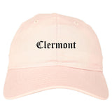 Clermont Florida FL Old English Mens Dad Hat Baseball Cap Pink
