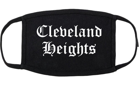 Cleveland Heights Ohio OH Old English Cotton Face Mask Black