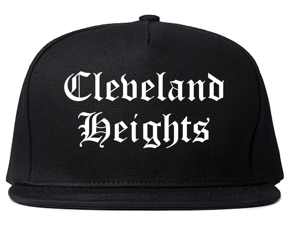 Cleveland Heights Ohio OH Old English Mens Snapback Hat Black