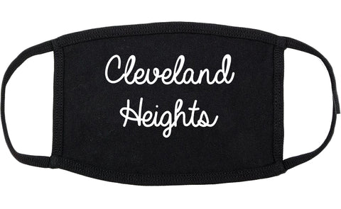 Cleveland Heights Ohio OH Script Cotton Face Mask Black
