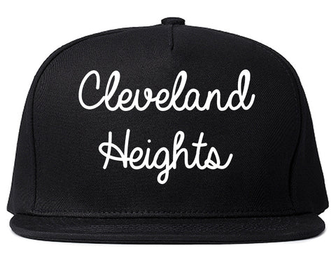 Cleveland Heights Ohio OH Script Mens Snapback Hat Black