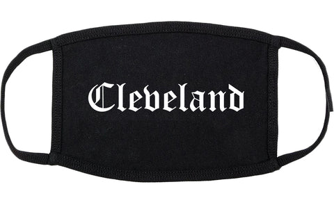 Cleveland Mississippi MS Old English Cotton Face Mask Black