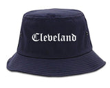 Cleveland Tennessee TN Old English Mens Bucket Hat Navy Blue