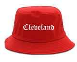 Cleveland Tennessee TN Old English Mens Bucket Hat Red