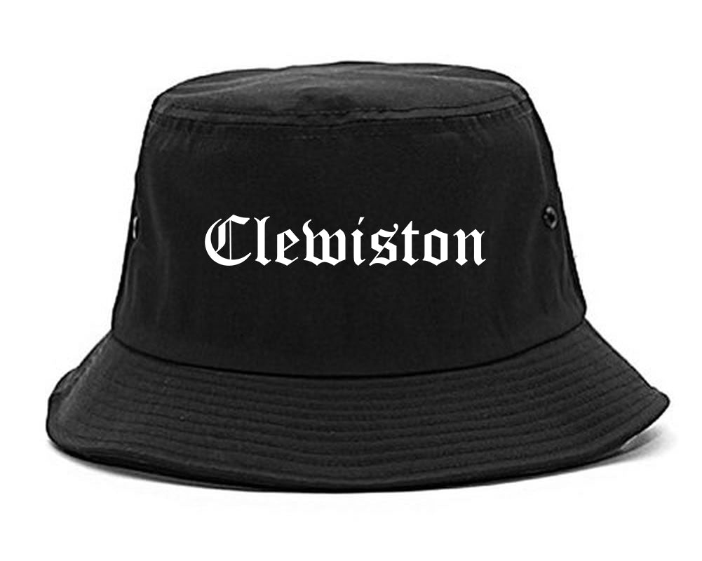 Clewiston Florida FL Old English Mens Bucket Hat Black