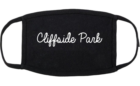 Cliffside Park New Jersey NJ Script Cotton Face Mask Black