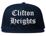Clifton Heights Pennsylvania PA Old English Mens Snapback Hat Navy Blue
