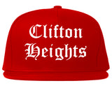 Clifton Heights Pennsylvania PA Old English Mens Snapback Hat Red