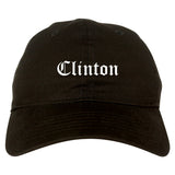 Clinton North Carolina NC Old English Mens Dad Hat Baseball Cap Black
