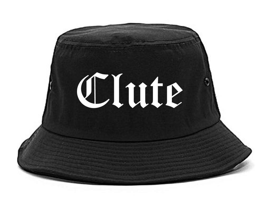 Clute Texas TX Old English Mens Bucket Hat Black