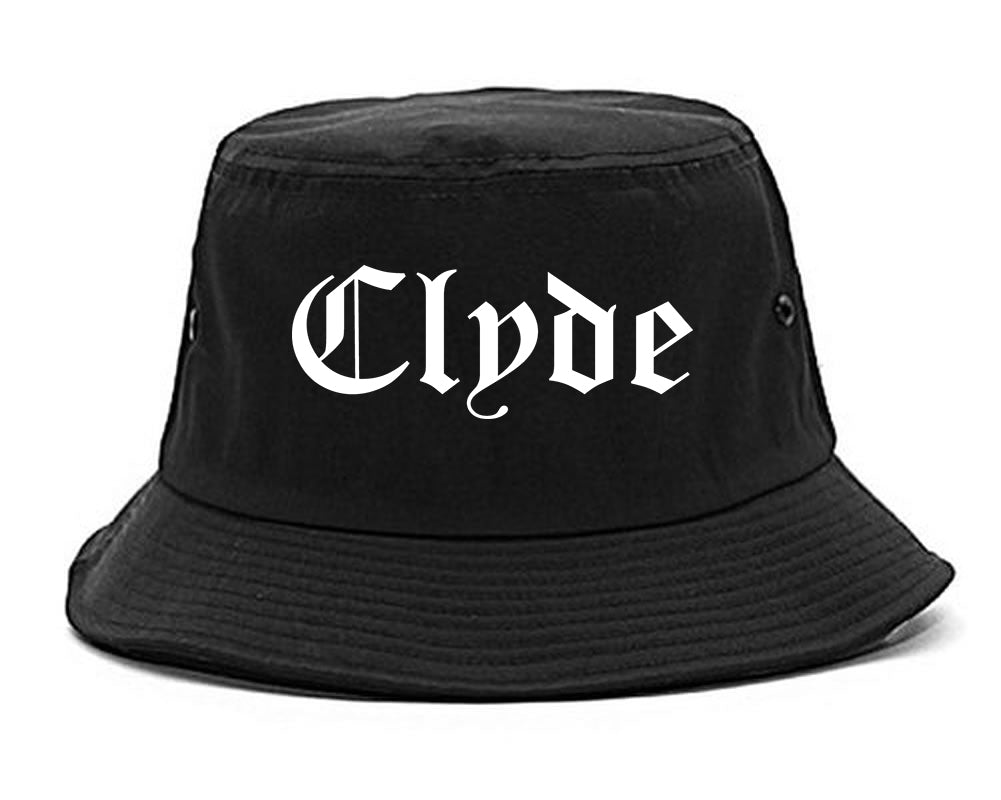 Clyde Ohio OH Old English Mens Bucket Hat Black