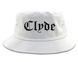 Clyde Ohio OH Old English Mens Bucket Hat White