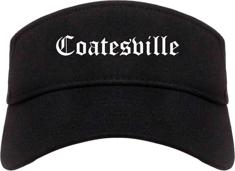 Coatesville Pennsylvania PA Old English Mens Visor Cap Hat Black