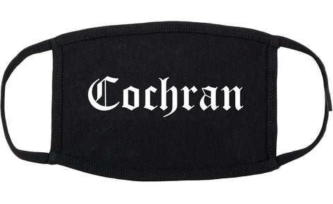 Cochran Georgia GA Old English Cotton Face Mask Black