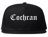 Cochran Georgia GA Old English Mens Snapback Hat Black