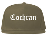 Cochran Georgia GA Old English Mens Snapback Hat Grey