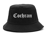 Cochran Georgia GA Old English Mens Bucket Hat Black