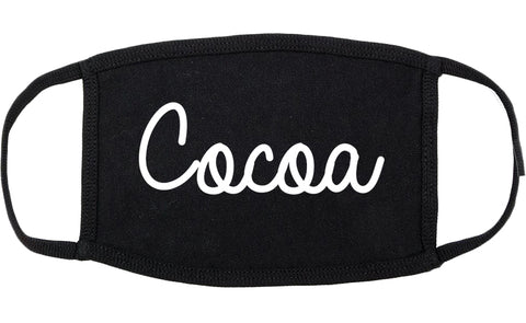 Cocoa Florida FL Script Cotton Face Mask Black