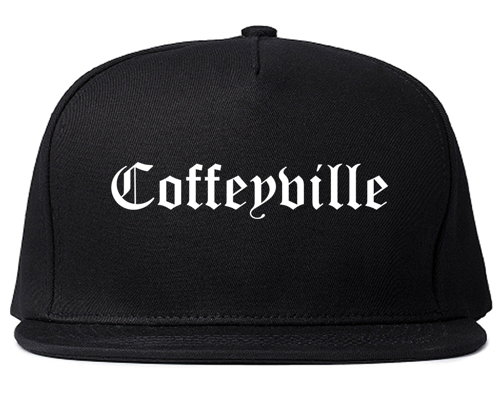 Coffeyville Kansas KS Old English Mens Snapback Hat Black
