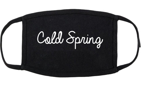 Cold Spring Kentucky KY Script Cotton Face Mask Black
